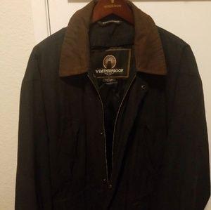 Black oxford parka jacket
